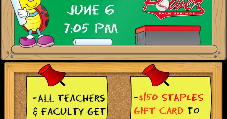 PRESS RELEASE:  Teacher Appreciation Night ($150 Staples Prize) on Saturday, June 6, 2015
