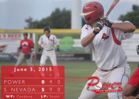 POWER fall in game one against Southern Nevada 5-0