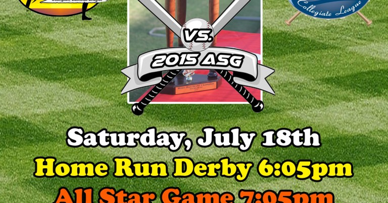 2015 SCCBL vs. OCCL All-Star Rosters and Home Run Derby Participants Announced
