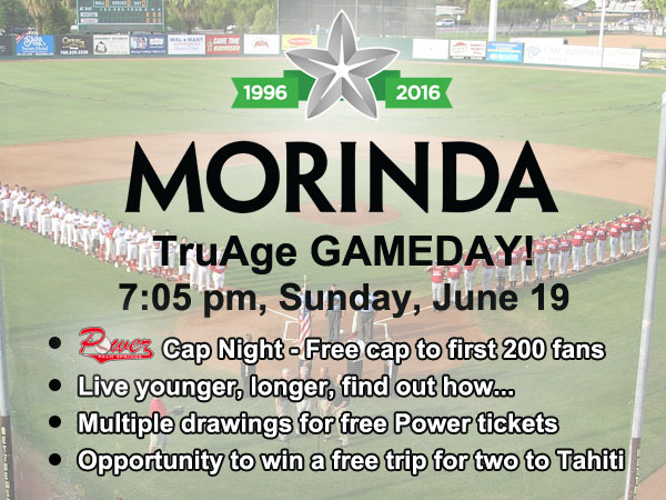 PRESS RELEASE: Morinda TruAge Game Day – Sunday, June 19