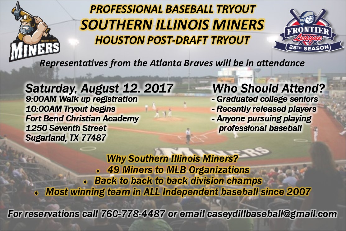 Southern Illinois Miners Houston Post-Draft Tryout