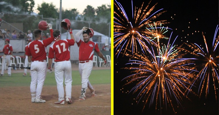 TWO SETS OF FIREWORKS LIGHT UP PALM SPRINGS AS POWER EXPLODE FOR 19 RUNS