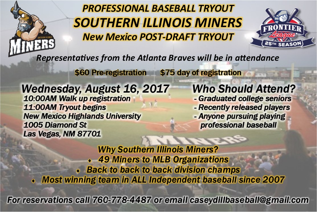 New Mexico Southern Illinois Miners Tryout