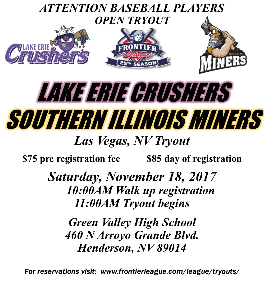 crushers miners tryout